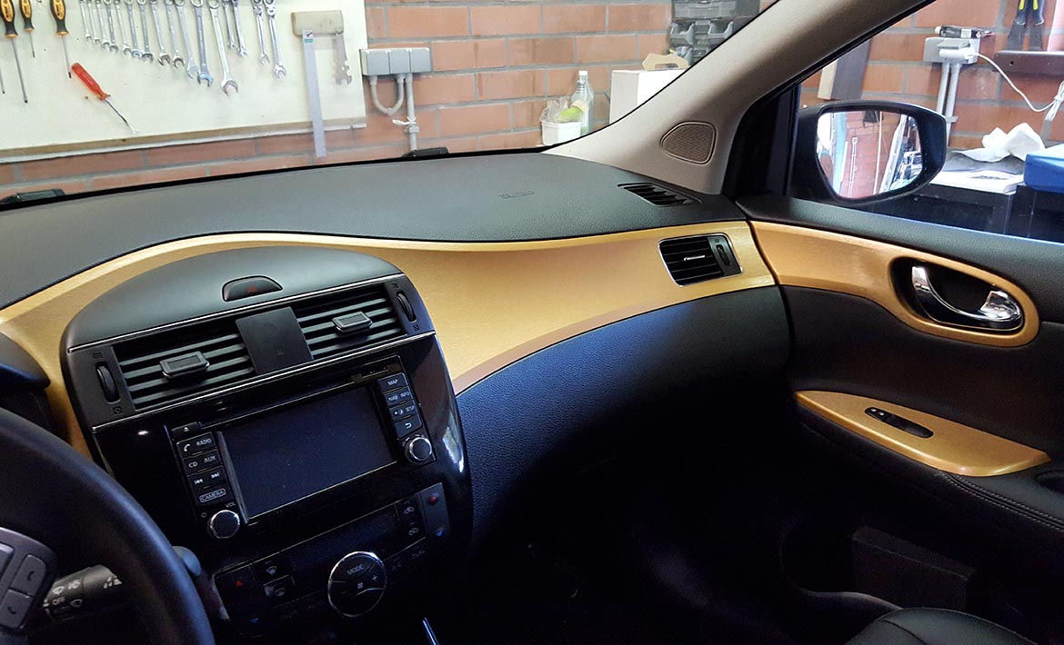 gold brushed interior wrap