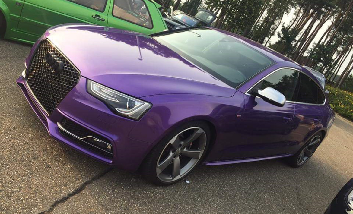 Audi A5 Purple Metallic Carwrap